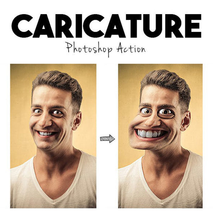 Caricature-700x698 Photoshop actions for portraits that you can download now