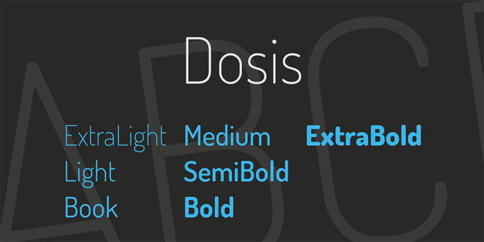 Dosis Download these futuristic fonts and create awesome typography designs