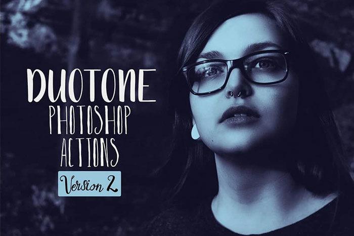 Duotone-Portrait-Photoshop-Actions-700x466 Photoshop actions for portraits that you can download now