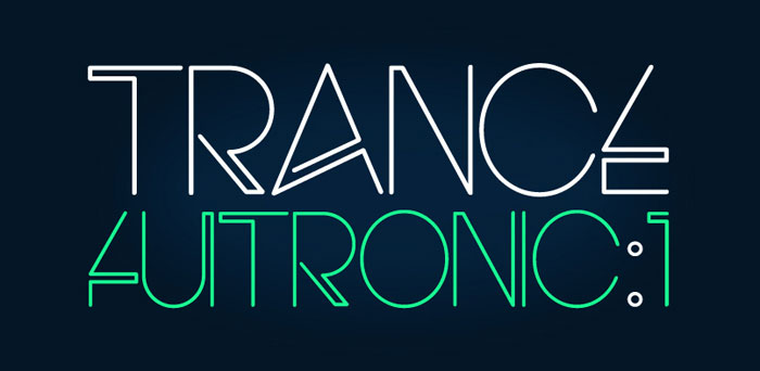 Electro-font Download these futuristic fonts and create awesome typography designs