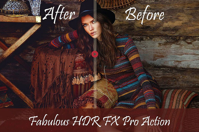 Fabulous-HDR-FX-Photoshop-Action-700x466 Photoshop actions for portraits that you can download now