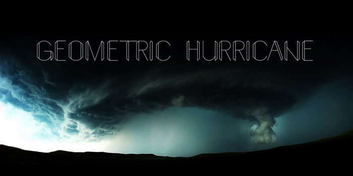 Geometric-hurricane Download these futuristic fonts and create awesome typography designs