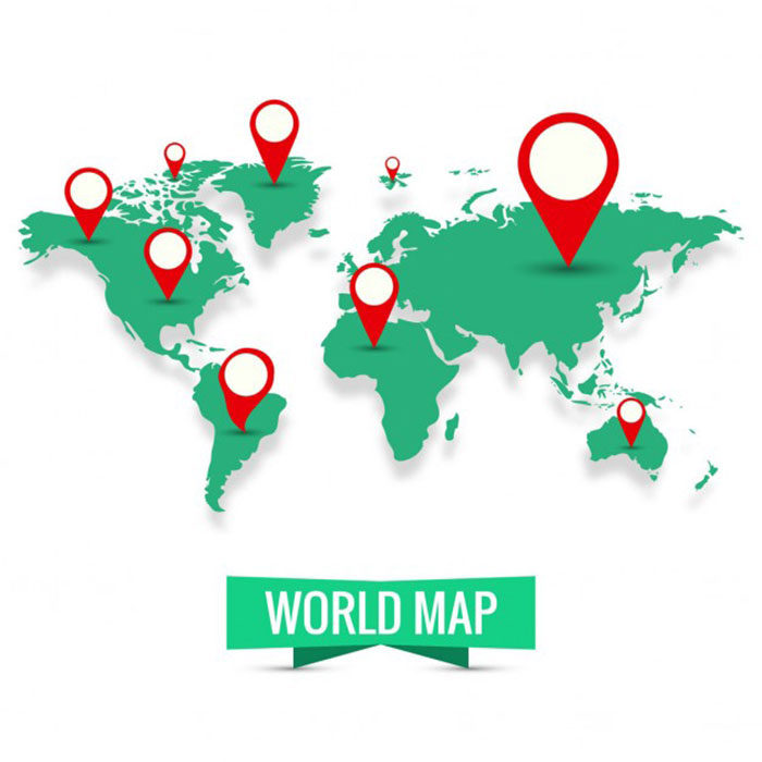 Green-World-Map-700x700 World map vector graphics you can download with a few clicks