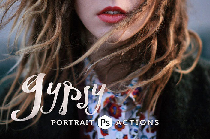 Gypsy-Portrait-Photoshop-Actions-1-700x466 Photoshop actions for portraits that you can download now