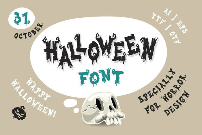 Creepy font examples to use on Halloween themed designs
