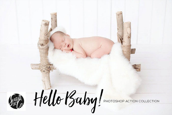 Hello-Baby-Collection-700x466 Photoshop actions for portraits that you can download now