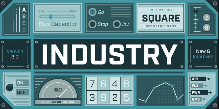 Industry-font Download these futuristic fonts and create awesome typography designs