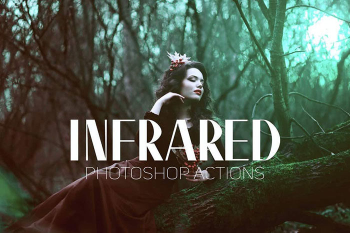 Infrared-IR-Portrait-Photoshop-Actions-700x466 Photoshop actions for portraits that you can download now