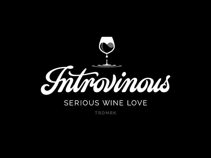 Introvinous Wine logo design: How to create stylish wine logos