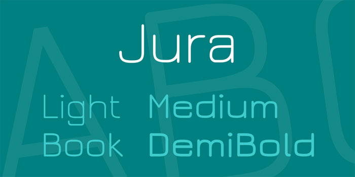 Jura Download these futuristic fonts and create awesome typography designs