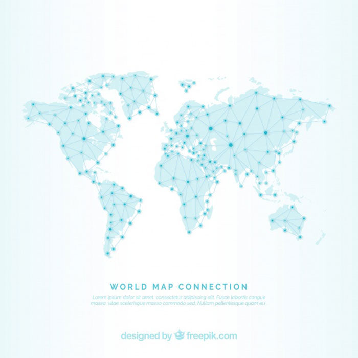 Network-World-Map-700x700 World map vector graphics you can download with a few clicks