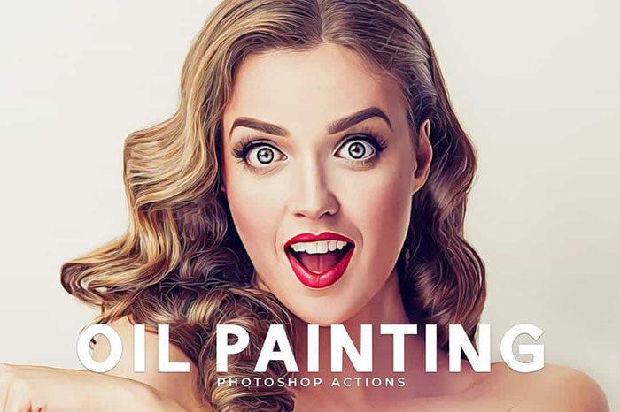 Oil-Painting-Portrait-Photoshop-Actions-700x466 Photoshop actions for portraits that you can download now