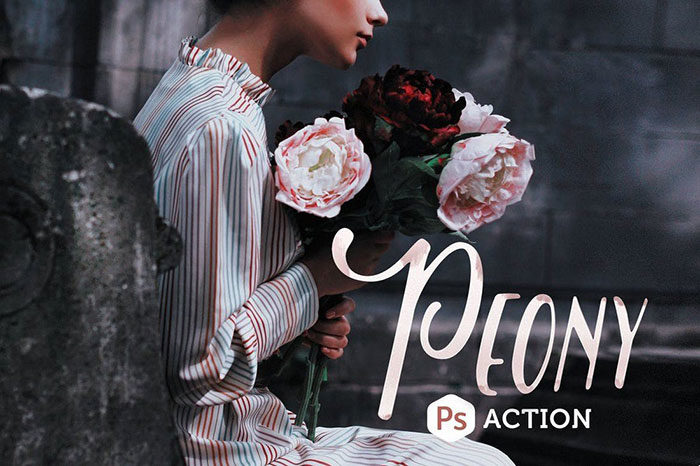 Peony-Photoshop-Action-1-700x466 Photoshop actions for portraits that you can download now