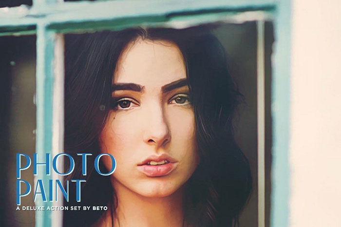 Photo-Paint-Action-700x466 Photoshop actions for portraits that you can download now