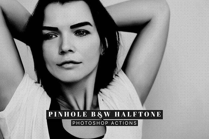 Pinhole-Halftone-Portrait-Photoshop-Actions-700x466 Photoshop actions for portraits that you can download now