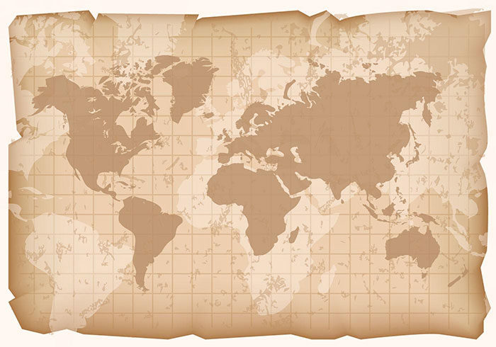 Retro-World-Map-700x490 World map vector graphics you can download with a few clicks