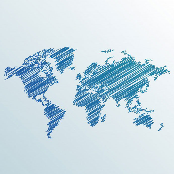 Scribbled-World-Map-700x700 World map vector graphics you can download with a few clicks