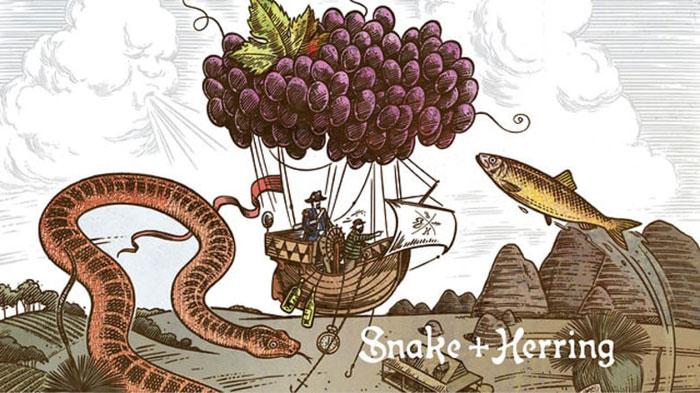 Snake-Herring Wine logo design: How to create stylish wine logos