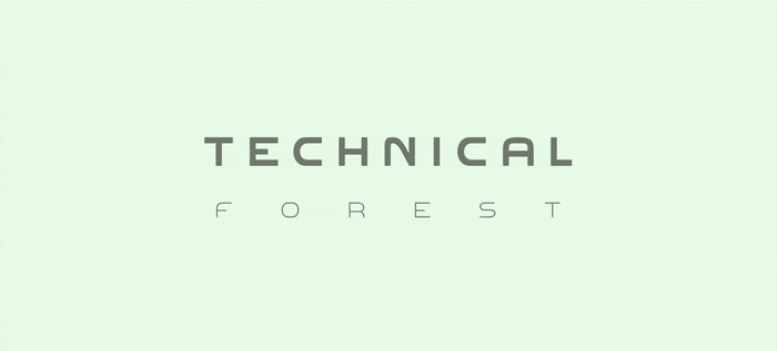 Technical-forest Download these futuristic fonts and create awesome typography designs