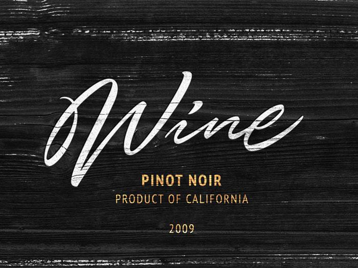 Typography Wine logo design: How to create stylish wine logos