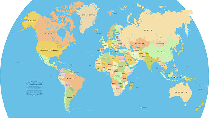 Vector-World-Map1-700x394 World map vector graphics you can download with a few clicks