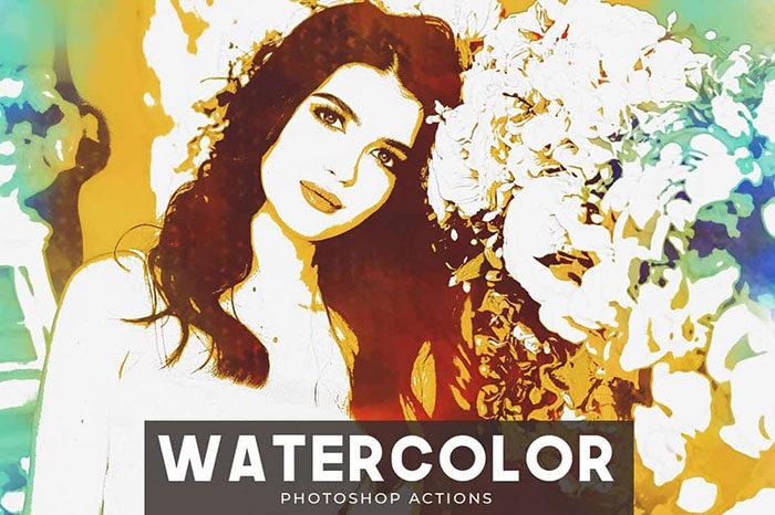 Watercolor-Portrait-Photoshop-Actions-700x466 Photoshop actions for portraits that you can download now