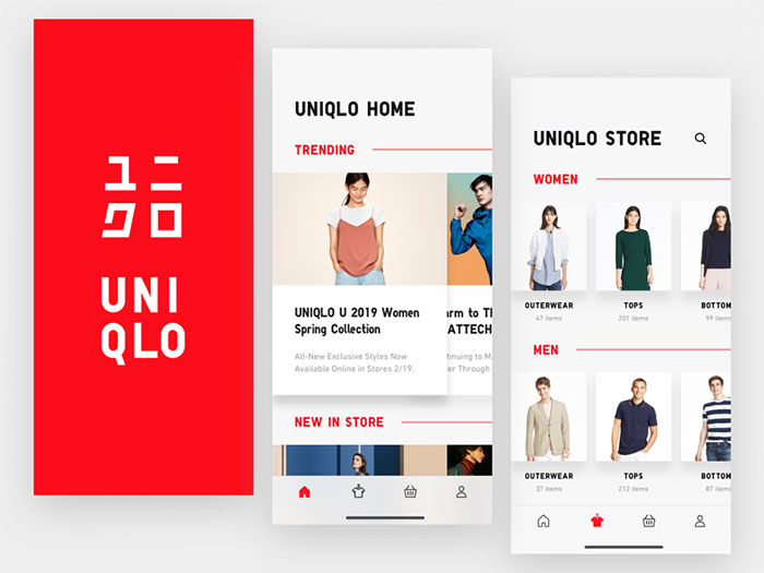 dribbble_fashion Using a red color palette and the various shades of red