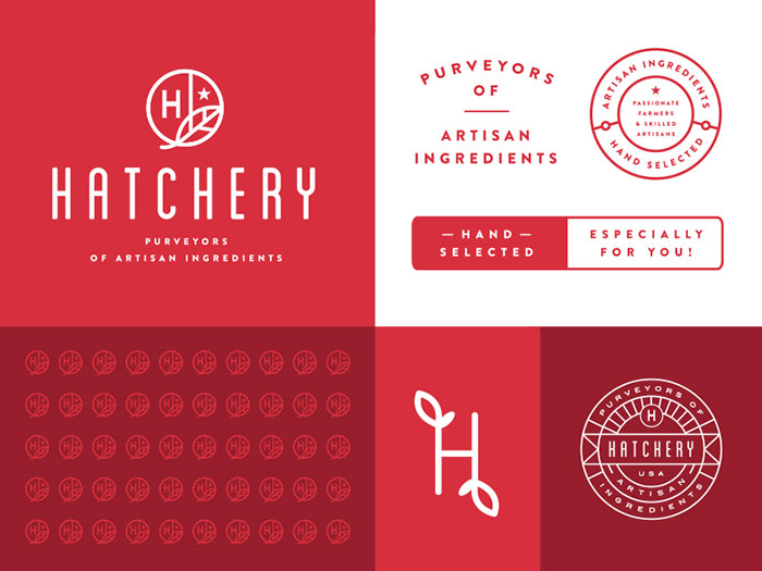 hatchery Using a red color palette and the various shades of red