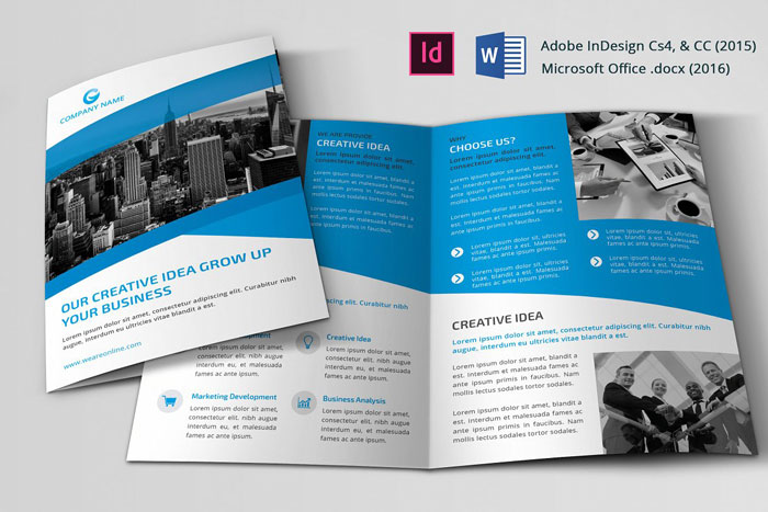 Bi-Fold Great looking corporate brochure templates to check out