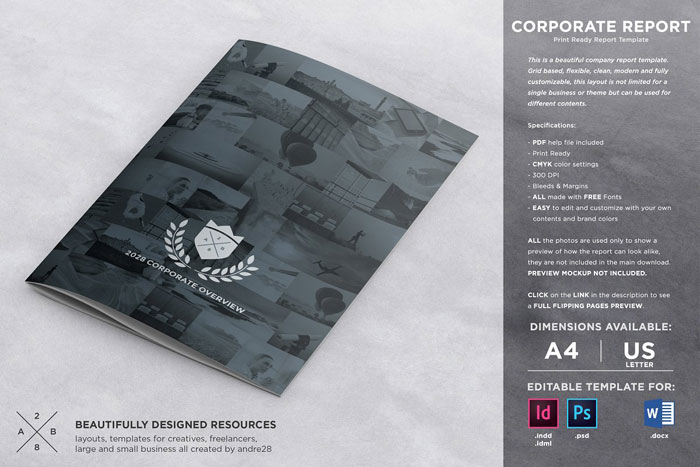 Brochure-report Great looking corporate brochure templates to check out