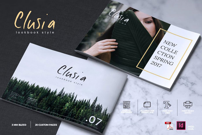 Clusia-brochure Great looking corporate brochure templates to check out