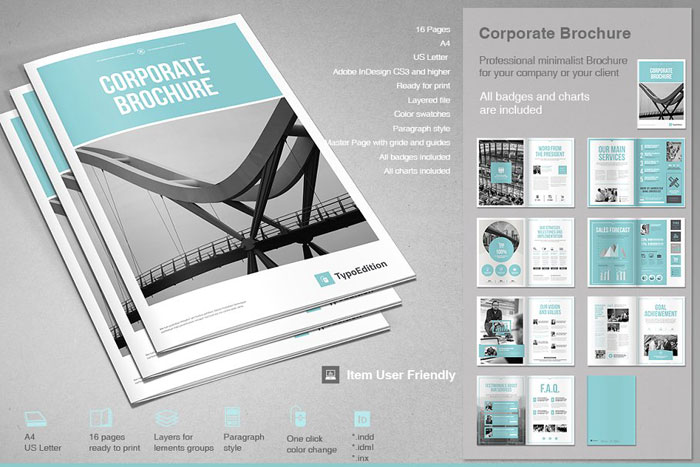 Corporate-brochure Great looking corporate brochure templates to check out