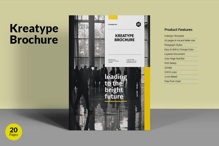 Kreatype-brochure Great looking corporate brochure templates to check out