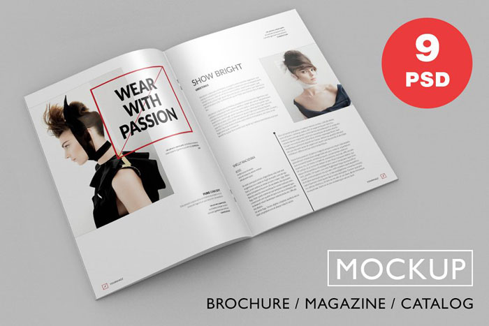 PSD-Mockup Great looking corporate brochure templates to check out