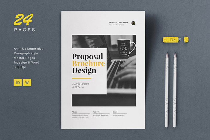 Proposal-Brochure Great looking corporate brochure templates to check out