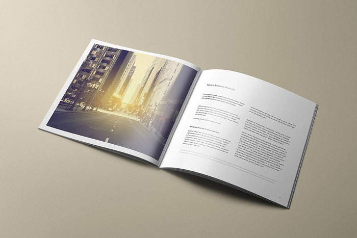 Square-Brochure Great looking corporate brochure templates to check out