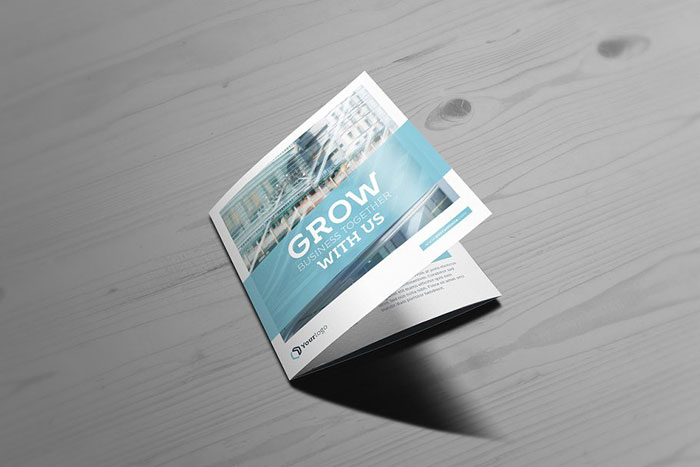 Square-trifold Great looking corporate brochure templates to check out