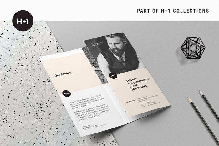 Tri-Fold-Busin Great looking corporate brochure templates to check out