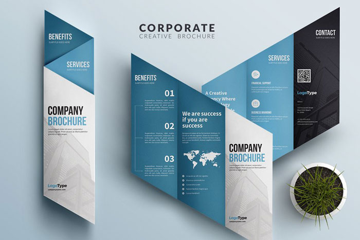 Tri-Fold-brochure Great looking corporate brochure templates to check out