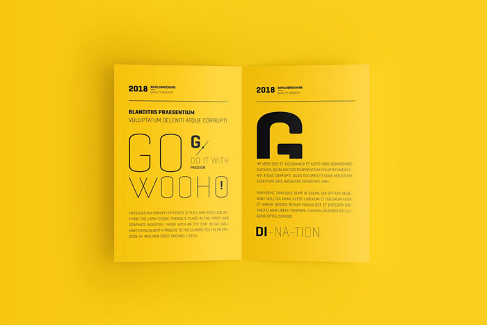 USA-Bi-Fold Great looking corporate brochure templates to check out