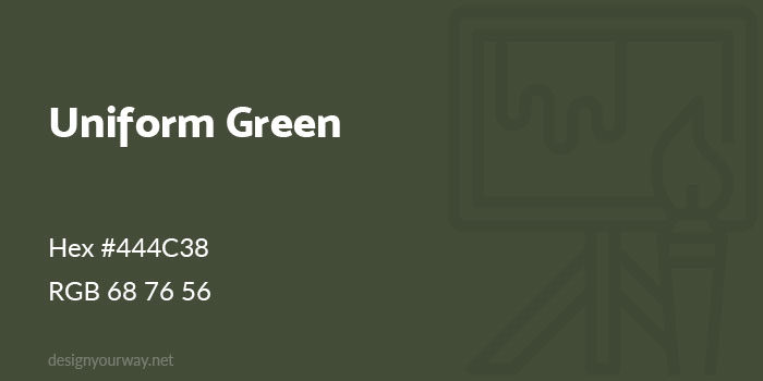 Uniform-Green-700x350 Using a green color palette and the various shades of green