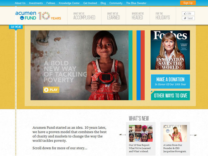 Showcase of the best nonprofit websites and tips to design one