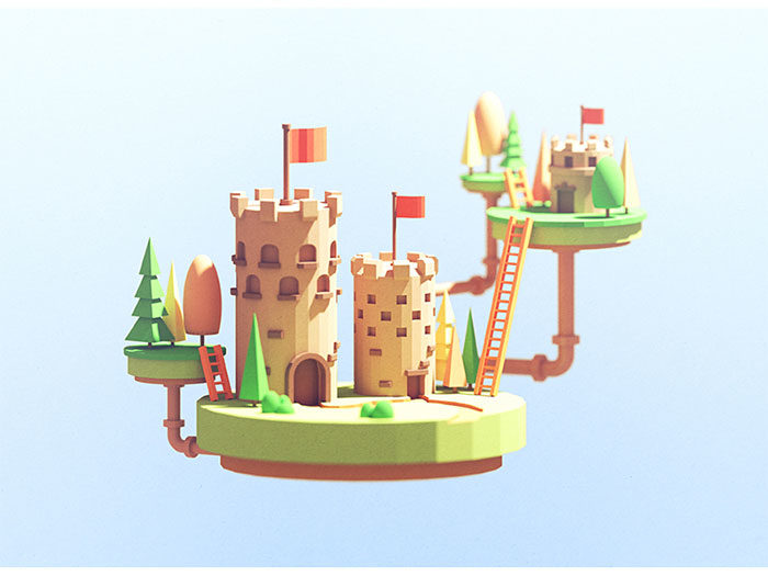 castles1-700x525 Low poly art: What you need to know about it (plus cool examples)