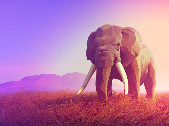 elephant-700x525 Low poly art: What you need to know about it (plus cool examples)