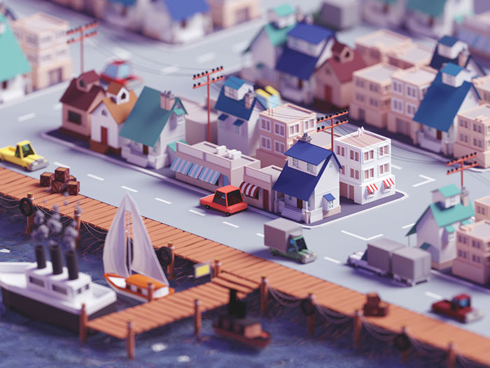 fishing-village-700x525 Low poly art: What you need to know about it (plus cool examples)