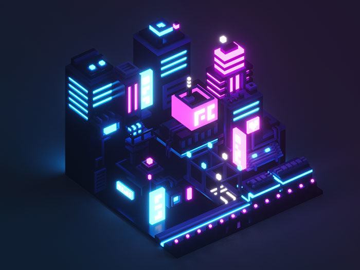 neoncity-700x525 Low poly art: What you need to know about it (plus cool examples)