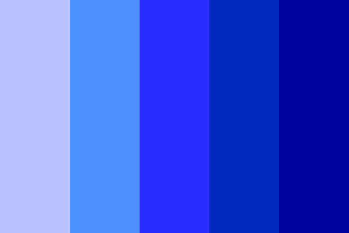 Using A Blue Color Palette And The Various Shades Of Blue
