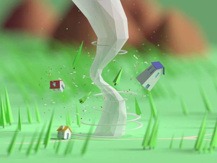 tinytornado-700x525 Low poly art: What you need to know about it (plus cool examples)