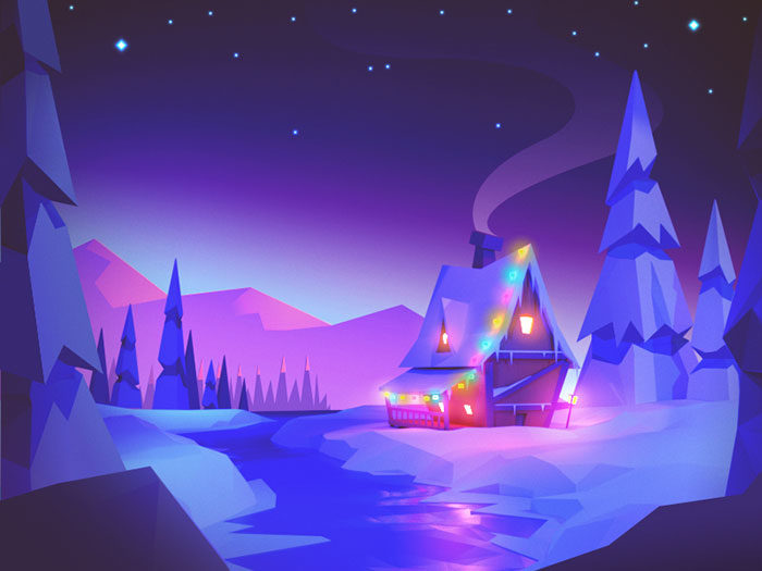 winter-wonderland-700x525 Low poly art: What you need to know about it (plus cool examples)