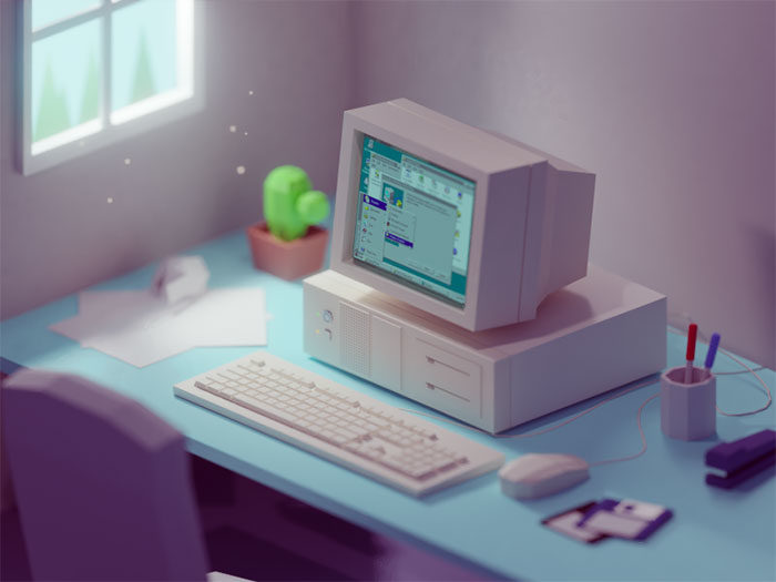 workdesk-700x525 Low poly art: What you need to know about it (plus cool examples)
